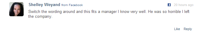 comment about a bad manager