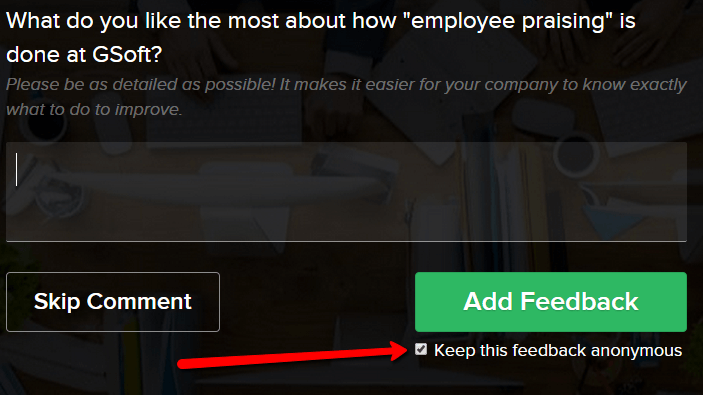 anonymous feedback in officevibe