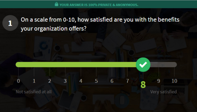 survey question from officevibe