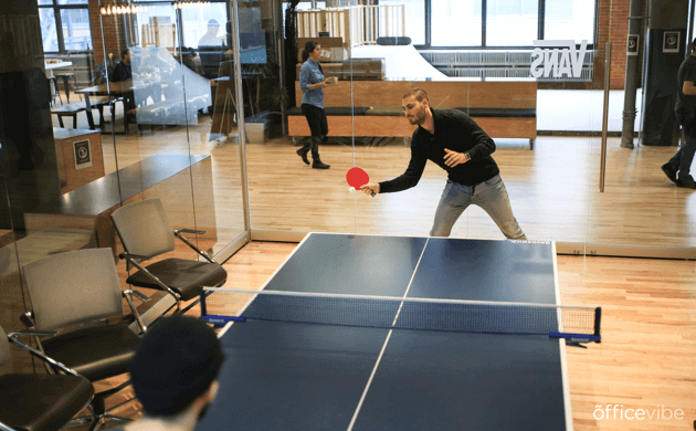 Officevibe company culture ping pong