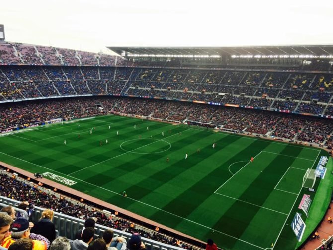 soccer game in barcelona