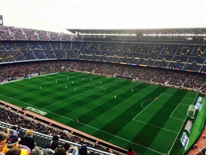soccer game in barcelona