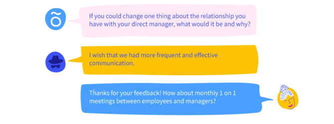 anonymous feedback conversation on officevibe