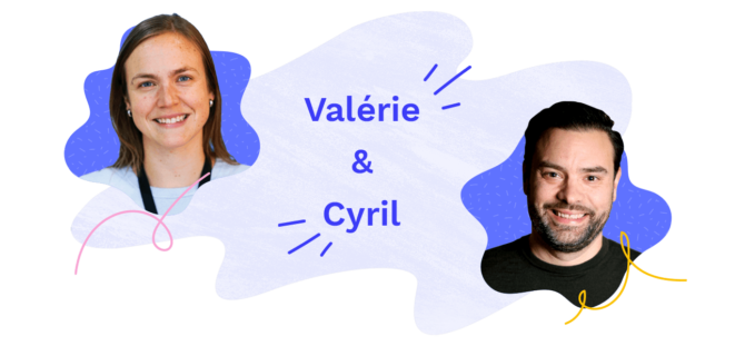 Image presenting Valérie and Cyril - employees at Officevibe