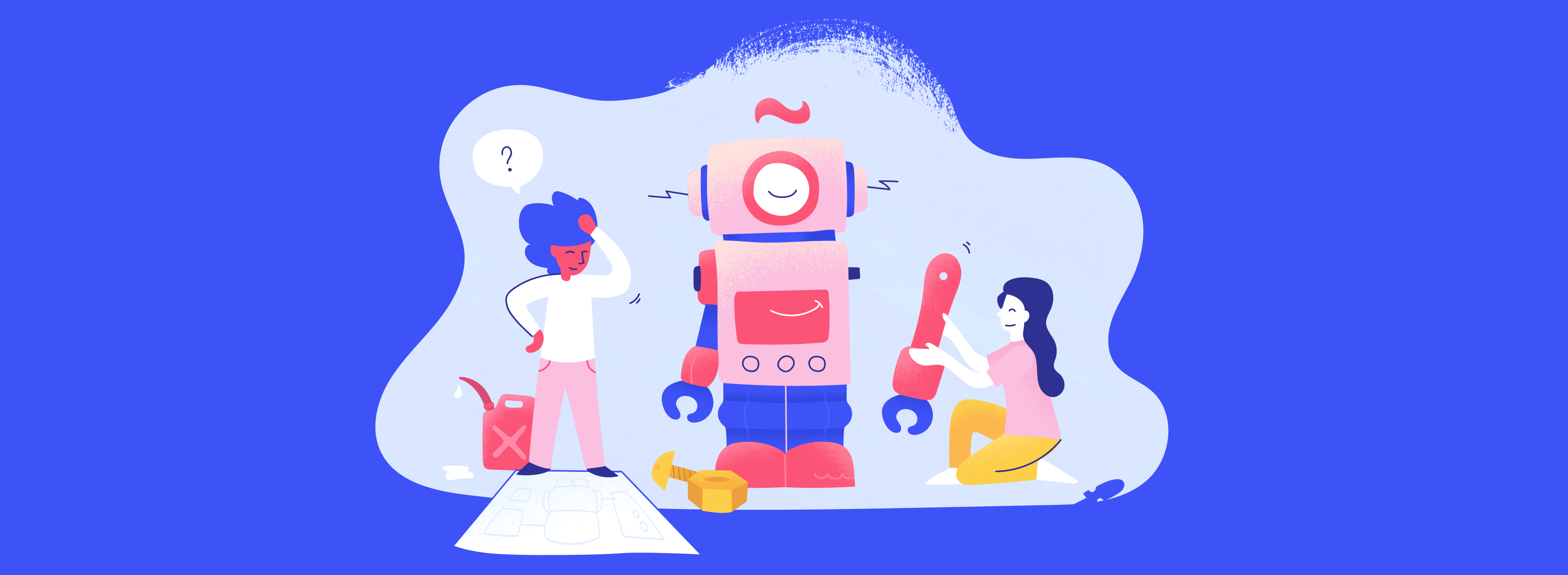Team Building a Robot